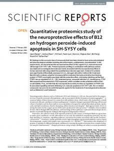 Quantitative proteomics study of the ... - Semantic Scholar