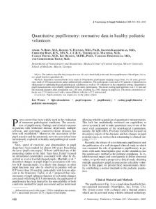 Quantitative pupillometry: normative data in healthy pediatric volunteers