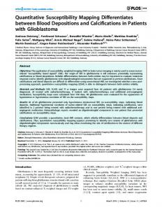 Quantitative Susceptibility Mapping Differentiates between ... - CiteSeerX