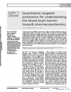 Quantitative targeted proteomics for understanding