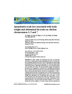 Quantitative trait loci associated with body weight and ... - Funpec-RP