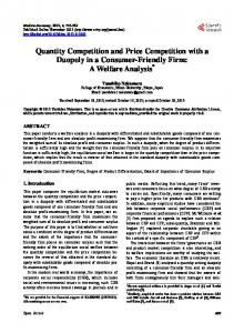 Quantity Competition and Price Competition with a Duopoly in a ...