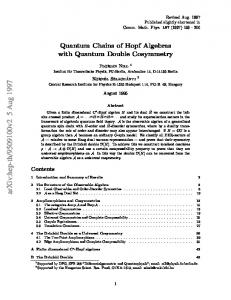 Quantum Chains of Hopf Algebras with Quantum Double Cosymmetry