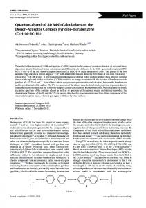 Quantum-chemical Ab Initio Calculations on the