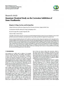 Quantum Chemical Study on the Corrosion Inhibition of Some ...
