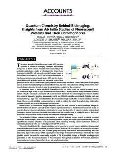 Quantum Chemistry Behind Bioimaging: Insights from Ab Initio ...