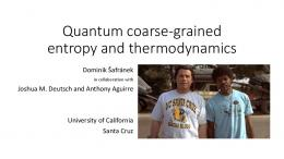 Quantum coarse-grained entropy and thermodynamics