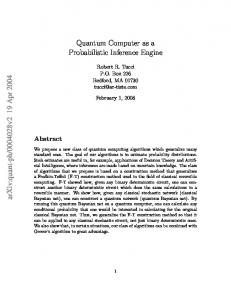 Quantum Computer as a Probabilistic Inference Engine