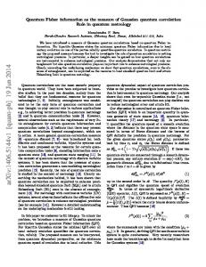 Quantum Fisher information as the measure of Gaussian quantum ...