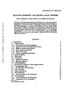 Quantum geometry and quiver gauge theories