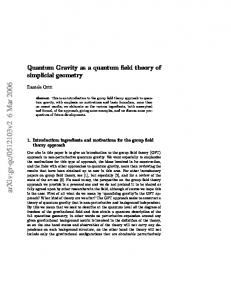 Quantum Gravity as a quantum field theory of simplicial geometry