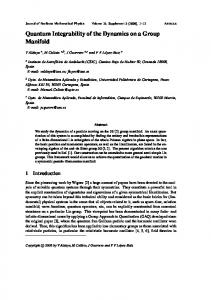 Quantum Integrability of the Dynamics on a Group Manifold