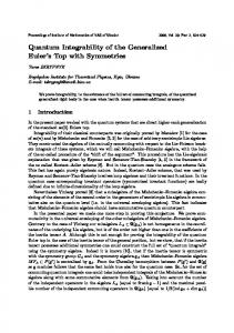 Quantum Integrability of the Generalized Euler's Top with Symmetries