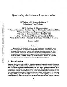 Quantum key distribution with quantum walks arXiv