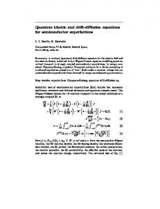 Quantum kinetic and drift-diffusion equations for ... - CiteSeerX