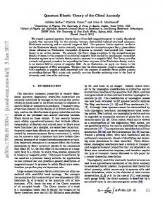 Quantum Kinetic Theory of the Chiral Anomaly
