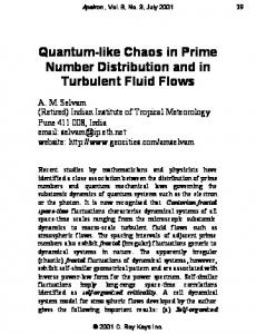 Quantum-like Chaos in Prime Number Distribution and in Turbulent ...