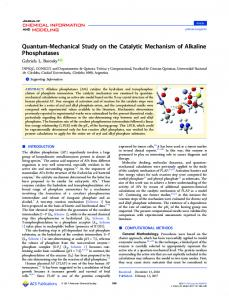 Quantum-Mechanical Study on the Catalytic Mechanism of Alkaline ...