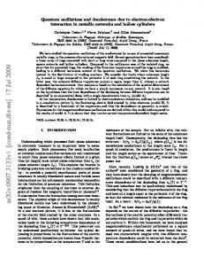 Quantum oscillations and decoherence due to electron-electron ...
