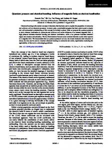 Quantum pressure and chemical bonding: Influence of magnetic fields ...