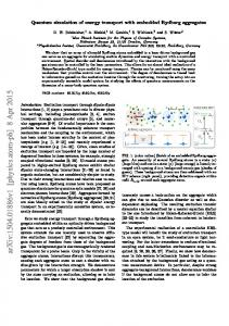 Quantum simulation of energy transport with embedded Rydberg