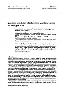 Quantum simulation of relativistic quantum physics with trapped ions