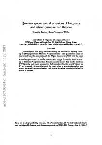 Quantum spaces, central extensions of Lie groups and related ...