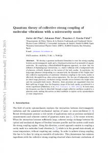 Quantum theory of collective strong coupling of molecular vibrations ...