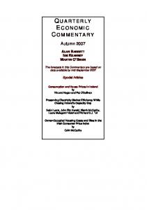 quarterly economic commentary - The Economic and Social Research ...