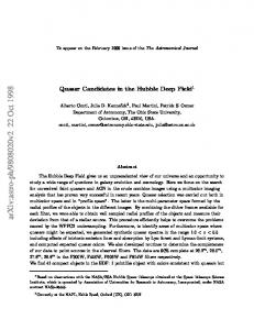 Quasar Candidates in the Hubble Deep Field