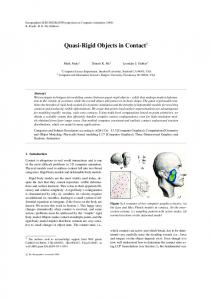 Quasi-Rigid Objects in Contact - LGG, EPFL