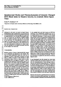 Quasinormal Modes and Thermodynamics of Linearly Charged BTZ ...
