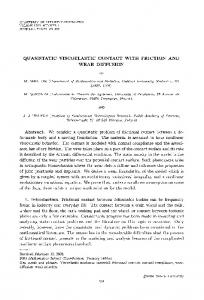 quasistatic viscoelastic contact with friction and wear diffusion