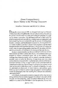 Queer Composition(s): Queer Theory in the Writing ... - JAC Online