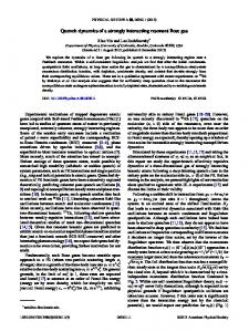 Quench dynamics of a strongly interacting ... - APS link manager