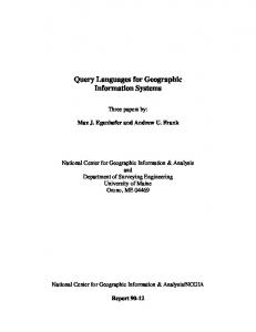 Query Languages for Geographic Information ... - Semantic Scholar