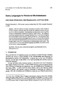 Query Languages for Relational Multidatabases