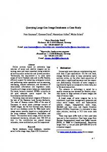 Querying Large Geo Image Databases: a Case ... - Semantic Scholar