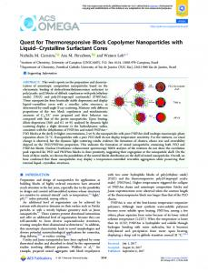 Quest for Thermoresponsive Block Copolymer ... - ACS Publications