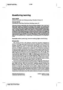 Questioning Learning - Open Research Exeter - University of Exeter