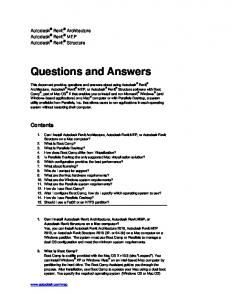 Questions and Answers - Autodesk