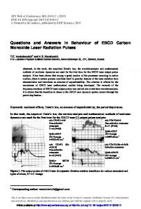 Questions and Answers in Behaviour of EBCD Carbon Monoxide ...