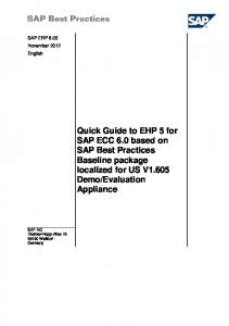 Quick Guide to EhP 5 for SAP ECC 6.0 based on SAP Best Practices ...
