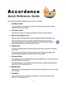 Quick Reference Guide - Accordance