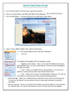 QUICK TIP: HOW TO RESIZE A PICTURE Using Microsoft Office ...