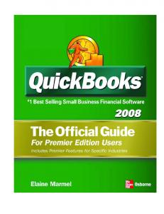 QuickBooks Premier 2008 Official Guide