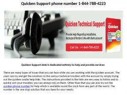 quicken customer help line number