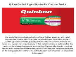 Quicken customer service helpline number 1-888-519-5185