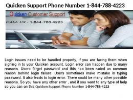 Quicken Tech Support Phone Number  1-844-788-4223