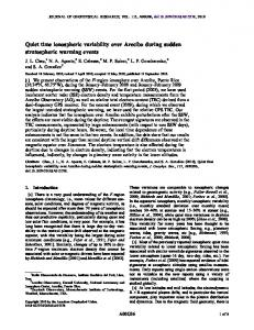 Quiet time ionospheric variability over Arecibo ... - Wiley Online Library